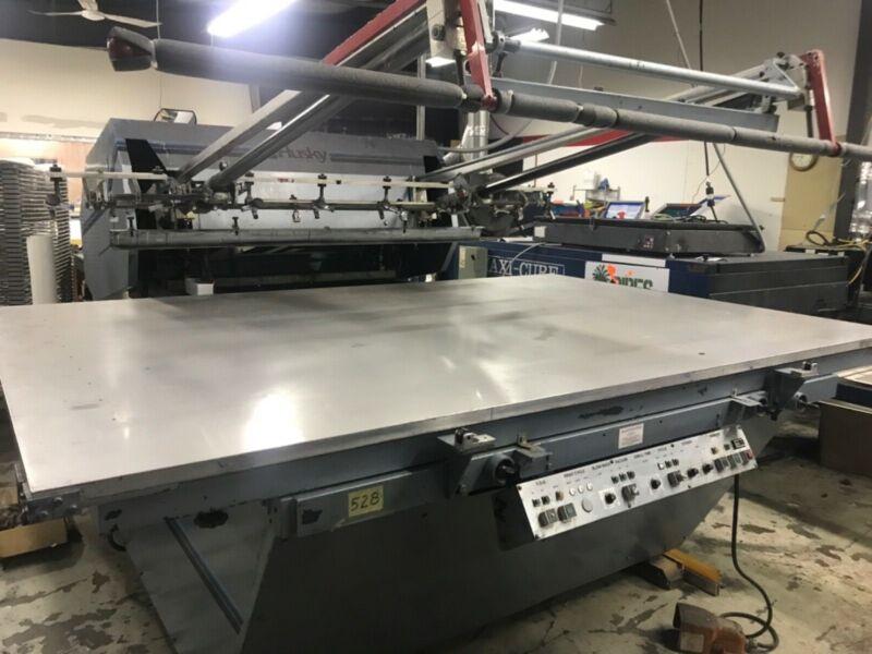 screen printing press used