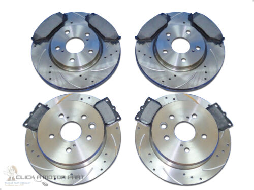 LEXUS IS220D IS250 FRONT & REAR VENTED DRILLED GROOVED BRAKE DISCS MINTEX PADS