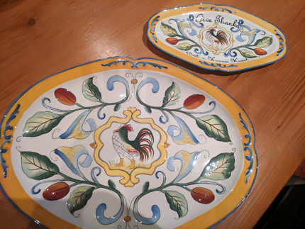 Serving platters large & small