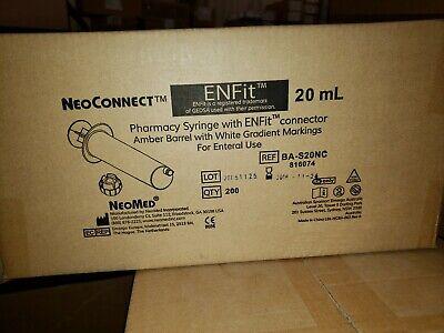 Enfit 20ml Bas20nc Neoconnect Pharmacy 60ml Amber Barrel  Cs 200