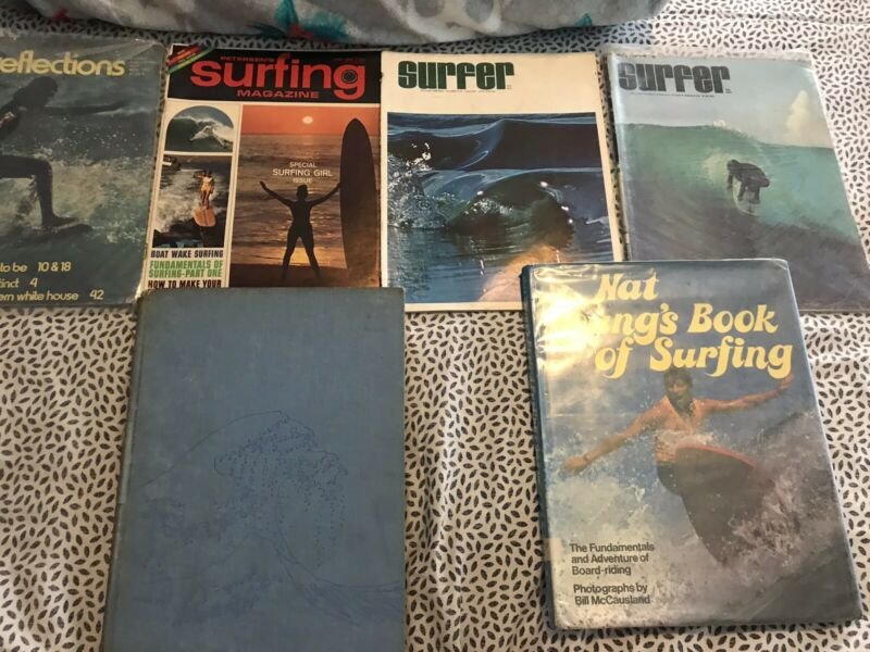 Modern Surfing Around The World 1964 HB & Nat Young's Book Of Surfing + Magazi