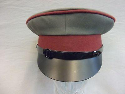 DDR Schirmmütze KVP mit Hersteller Lubstein Größe 58 mit Lederschirm