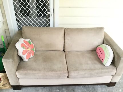 Freedom Sofa Suede  - quick sale low $