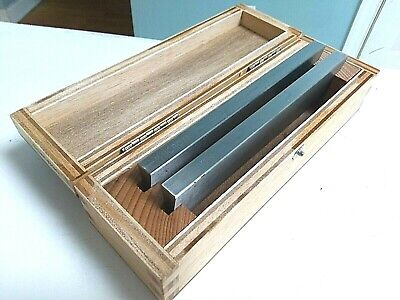 Microm 16cm Microtome Cryostat Knife Blades 2 Pcs Type C - Nice Cond Wood Case