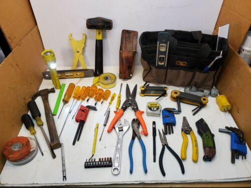 Lot CRC Tool Bag W/Electrician tools, Pliers, Screwdrivers, Sledge Hammer