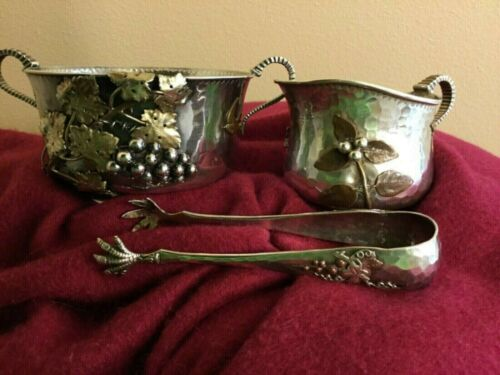 Gorgeous Gorham Sterling Silver/Mixed Metals Sugar and Creamer