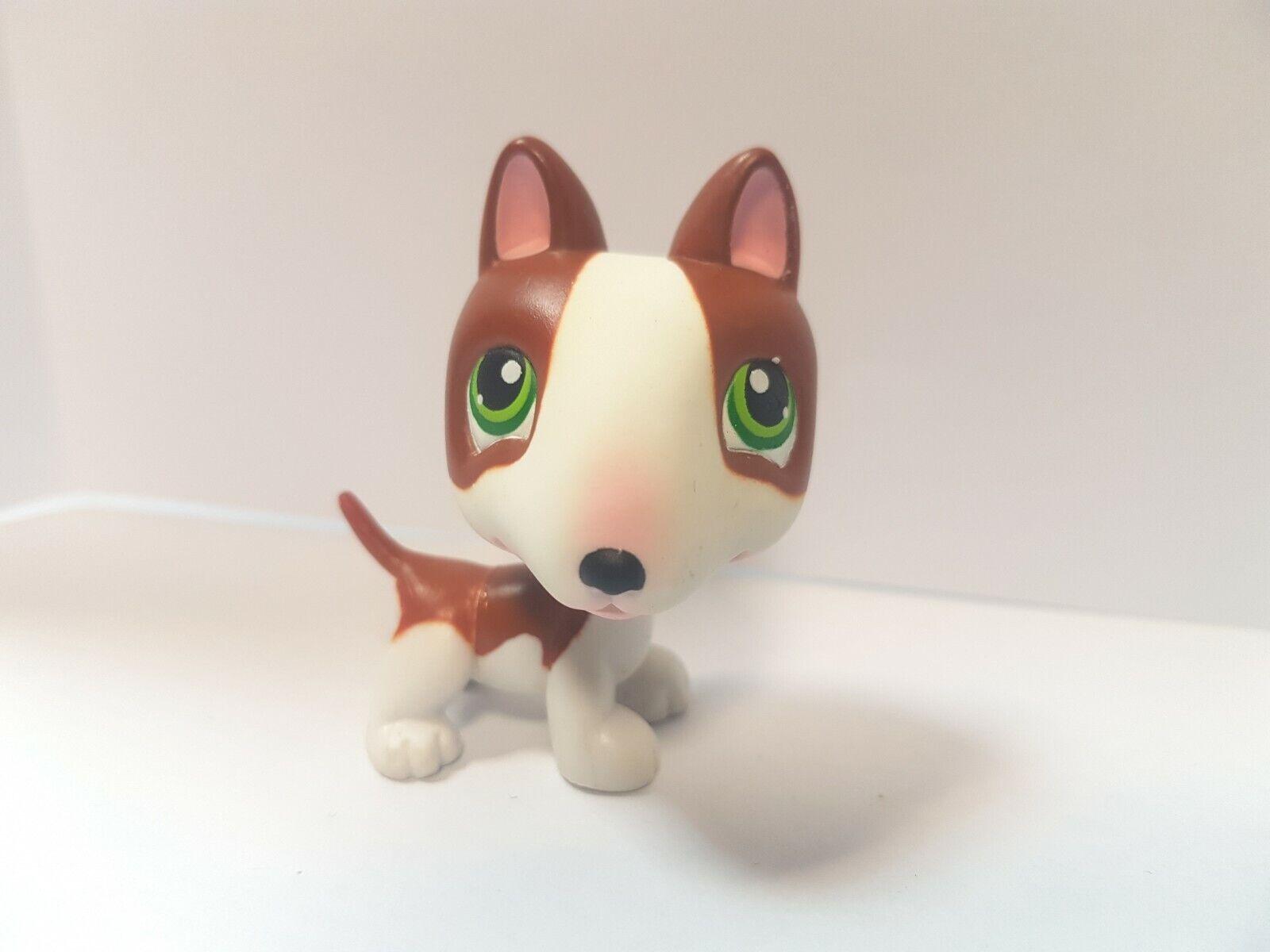 Figurine   petshop  original chien dog bull terrier 154   pet shop lps