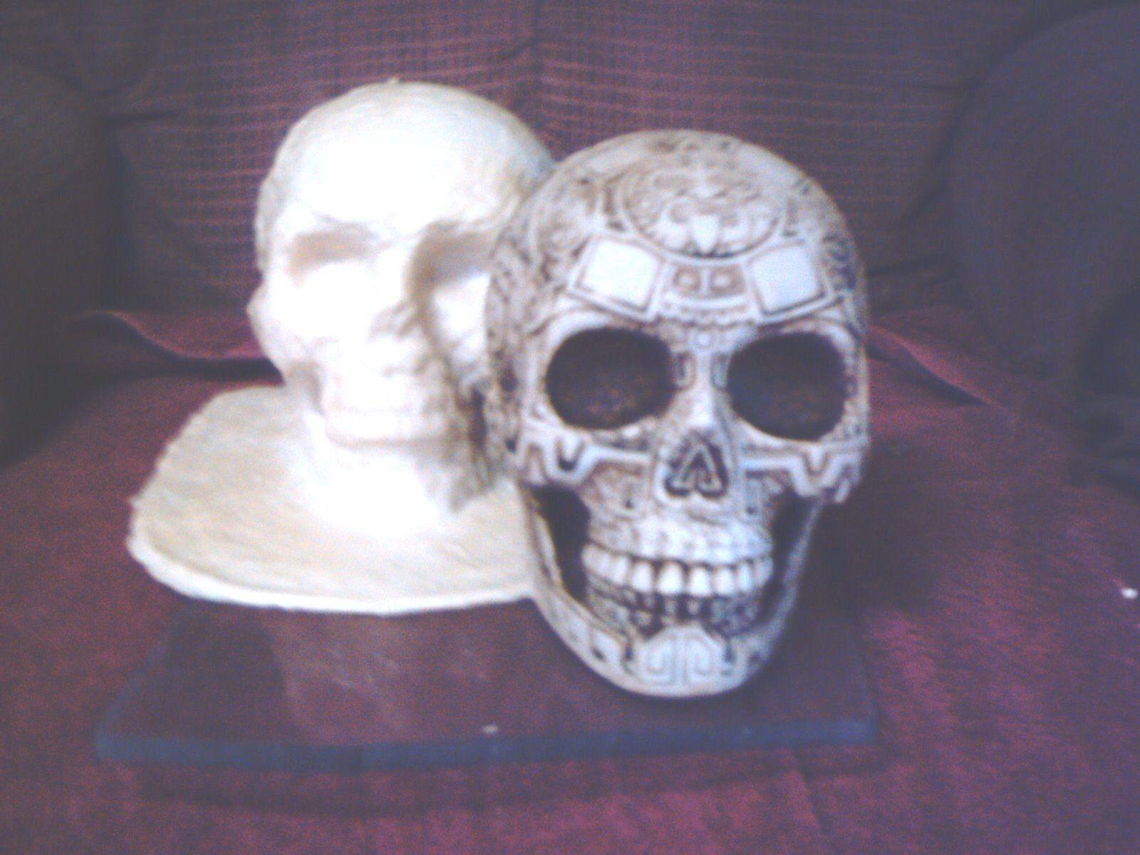 Aztec Skull Mold Latex/Rubber For Plaster/Concrete - $54.99