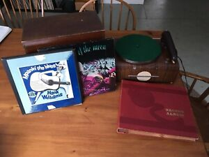 Tube 78rpm  record player, records