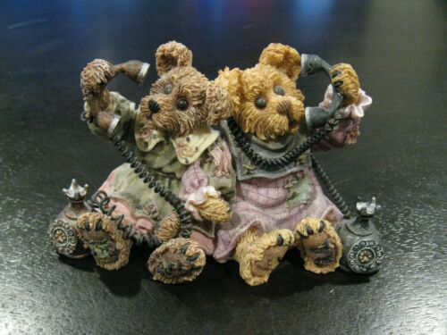 "Boyds Bears Figurine, ""Alexandra and Belle...Telephone Tied"", #227720V SAVE BIG!"