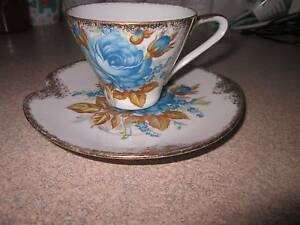 Cup and Saucer Bone China in Good Condition Beautiful Blue Flower Coorparoo Brisbane South East Preview