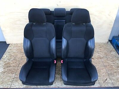 LEXUS 06-13 IS IS250 IS350 F-SPORT LEATHER & SUEDE SEATS SET COMPLETE BLACK FEO