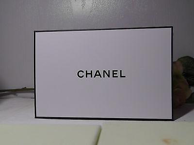 CHANEL Black & White Empty Signature Gift Box + Tissue.