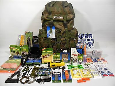 2 Person 72 Hour Emergency Survival Kit Bug out Bag 3 Days Food & Water Zombie