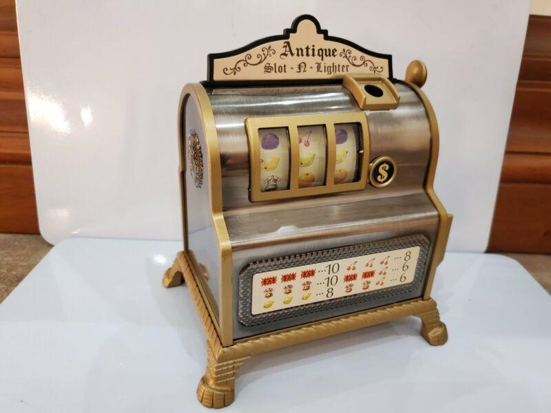 NOS Working Waco Slot Machine Antique Slot-N-Lighter Lighter, Orig. Box  1906.48