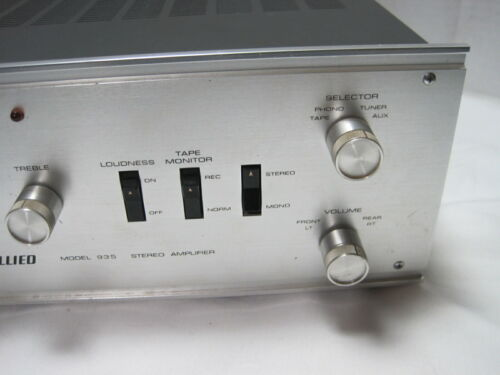 Allied Model 935 Integrated Tube Amplifier==Sounds Nice!