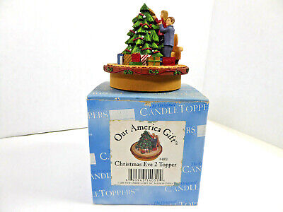Our America Yankee Candle Christmas Eve 2 #4051 Christmas Candle Topper NIB