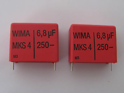 4 Pcs Nos Wima 6.8uf 250v Volts 10 Mks4 Polyester Capacitors Us Seller