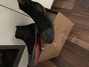 BNIB Christian louboutin spikes Chelsea boots