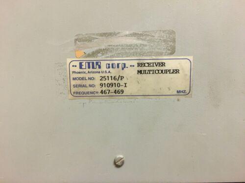 EMR Corp 25116P UHF 467-469 MHz Receiver Multicoupler