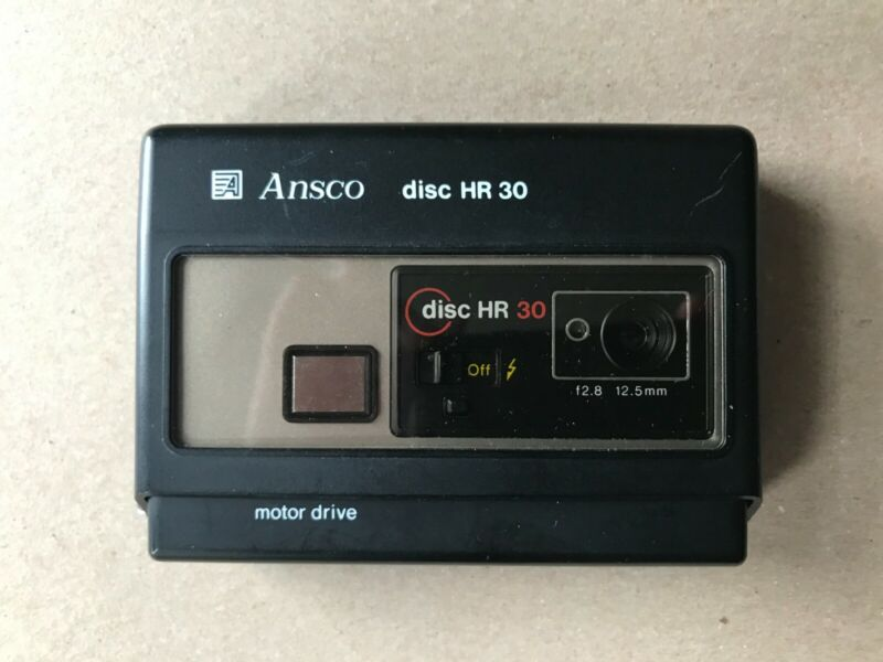 Ansco Disc HR 30 Motor Drive Disc Film Camera Used/Untested