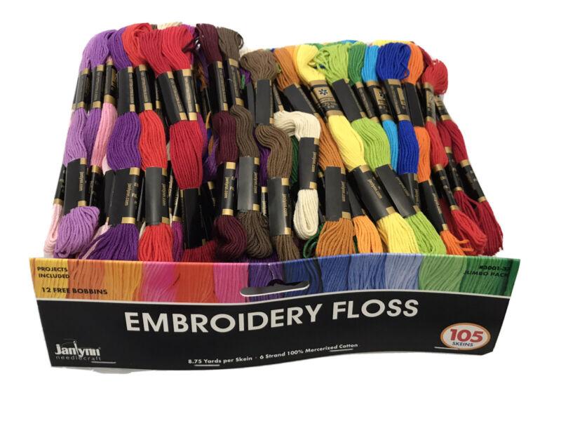 Janlynn Embroidery Floss Jumbo Pack 105pc New
