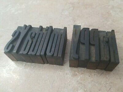 Letterpress Wood Type Printing Blocks Happy Holidays 1-58 Tall. 13 Letters.