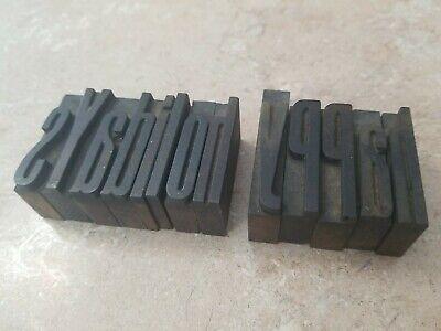 Letterpress Wood Type Printing Blocks Happy Holidays 1-58 Tall. 13 Letters.