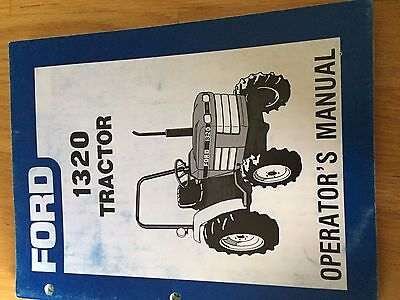 New Holland Ford Operator Tractor Manual 1320 Operators