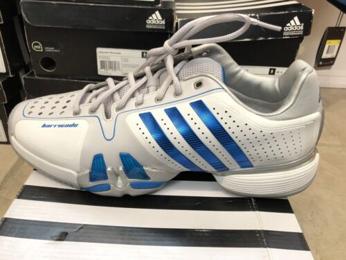 Adidas Mens Adipower Barricade Tennis Shoe V22350 7.5 8 11 NEW WhiteBlue