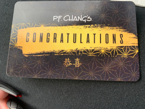 50 PF Chang s Gift Card - $35.00