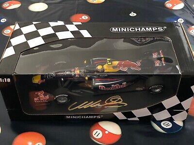 Minichamps 1:18 2010 Mark Webber Signed Red Bull F1 Best Season Ever (Best F1 Car Ever)