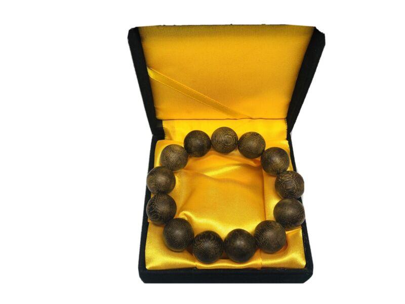 19mm Vietnam Chengxiang Agar Wood Bead Bracelet