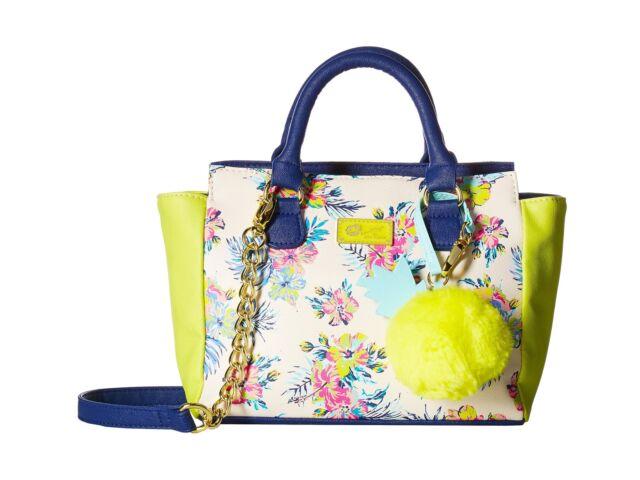 Luv Betsey Womens Cutie Satchel Blue/green Handbag | eBay
