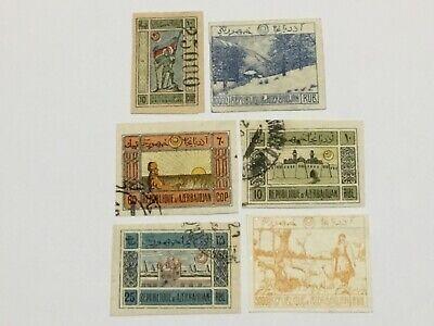 old stamps AZERBAIJAN   x  6
