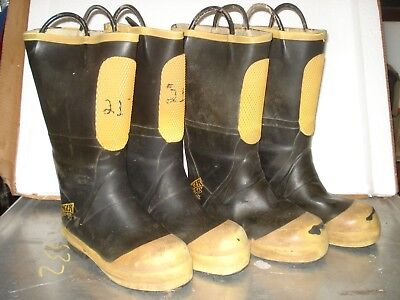 Lot Of 2 Ranger Shoe-fit Boots Size 8.5m Firefighter Boot Steel Toe Euc