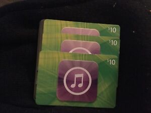 3 US ITunes Cards - $30 total value