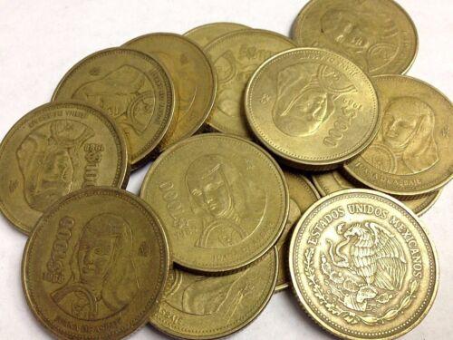 "MEXICO $1000 Peso coin, vintage Mexican Peso ""Juana De Asbaje"" (1988-1992 type)"