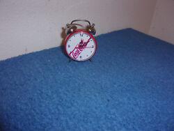 BRAND NEW...COCA-COLA 2.25 DIAMETER MINI WIND-UP ALARM CLOCK  #1