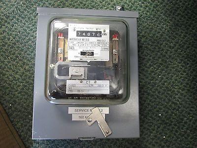 Osaki Watthour Meter 0w09ht 480v 3ph 3w 60hz Used