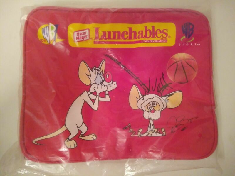 Oscar Mayer Lunchables WB Animaniacs Pinky & The Brain Lunchbox Red NOS NEW