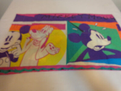 Vintage Disney Mickey Mouse & Goofy Pillowcase