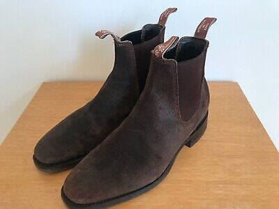 Limited Ed. R.M. Williams Comfort Craftsman -Espresso Roughout Suede Boots 9G  for sale  Shipping to Ireland