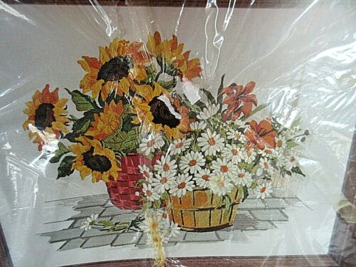 Lee Wards SUNFLOWER AND DAISY FLORAL Crewel Embroidery KIT  #45249