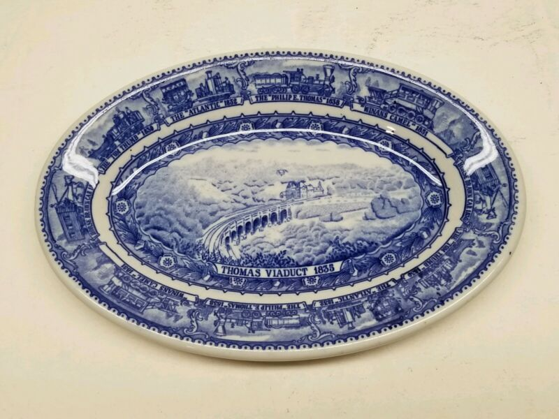 B&O Baltimore and Ohio Railroad China Dining Car Oval Platter