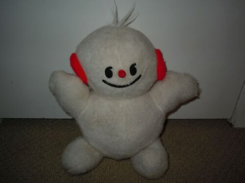 "SNOBOY Produce 12"" Snowman Plush Vintage California Stuffed Toy NEW apples russ"