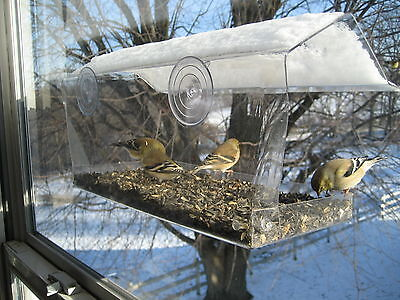 Window Bird Feeder, Watch birds right outside your window. Free Shipping