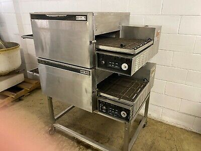 Lincoln Impinger 1132 Double Stack Conveyor Pizza Ovens 208 3 Phase Tested