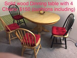 Solid wood, Oval, expandable, Beige Dining Table for sale