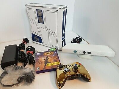 Xbox 360 Star Wars Limited Edition Complete W/Kinect NICE 320 GB System R2-D2